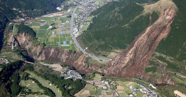 The Latest: 1,500 injured, 80 seriously, in Japan quakes